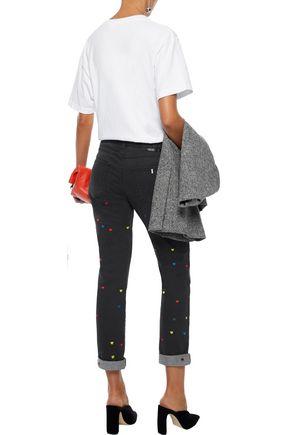 STELLA McCARTNEY Embroidered mid-rise slim boyfriend jeans