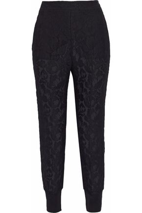 STELLA McCARTNEY Cotton-blend lace tapered pants