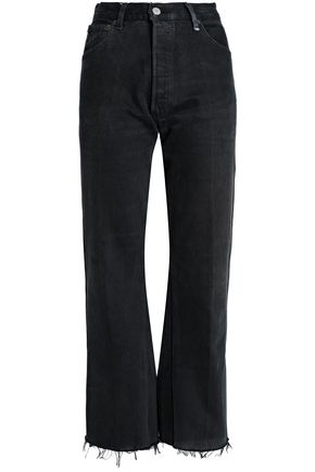 RE/DONE by LEVI'S Frayed high-rise bootcut jeans