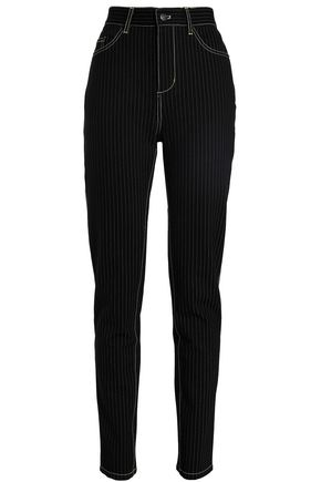 OPENING CEREMONY Pinstriped stretch-jersey straight-leg pants