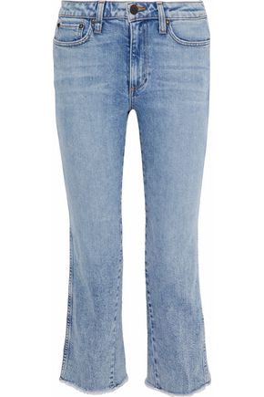 AO.LA by ALICE + OLIVIA Perfect cropped mid-rise bootcut jeans