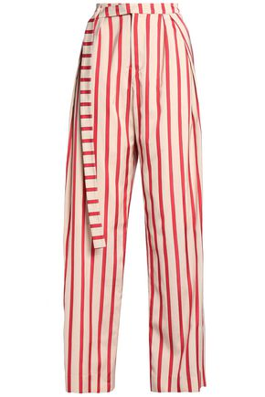CHRISTOPHER ESBER Striped woven wide-leg pants