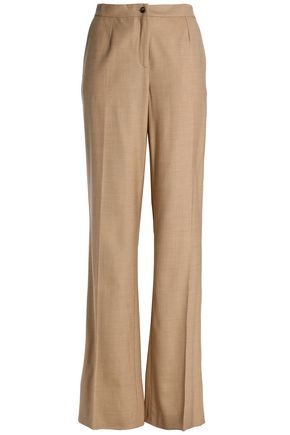 CAROLINA HERRERA Wool-blend twill wide-leg pants