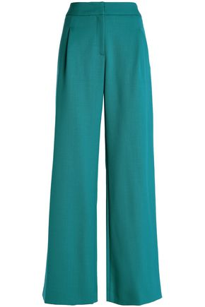 CAROLINA HERRERA Wool-blend wide-leg pants