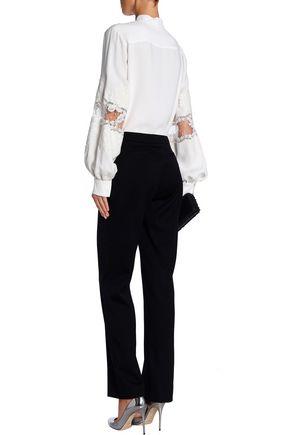 CAROLINA HERRERA Wool-blend bootcut pants