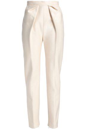 DELPOZO Pleated neoprene tapered pants