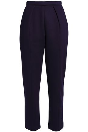 DELPOZO Pleated scuba tapered pants