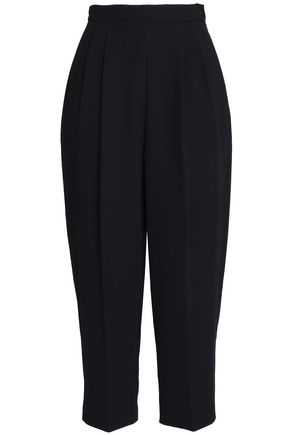 DELPOZO Cropped wool-crepe tapered pants