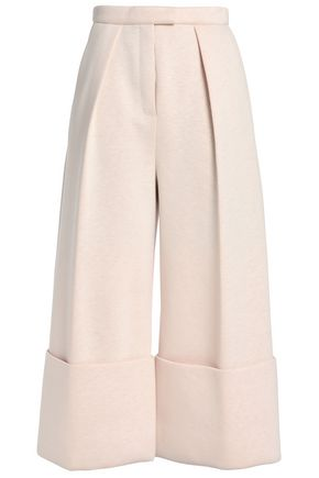 DELPOZO Pleated neoprene culottes