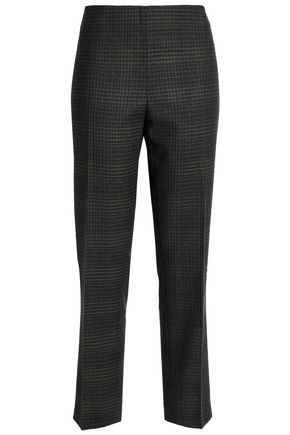 CAROLINA HERRERA Checked wool slim-leg pants