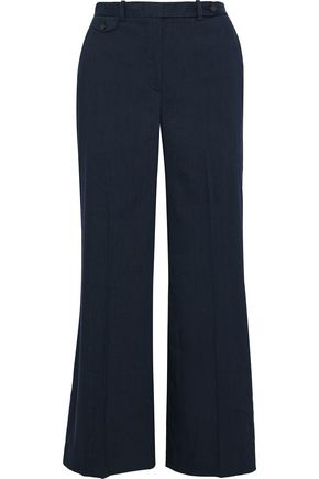 THEORY Nadeema cropped linen-blend wide-leg pants