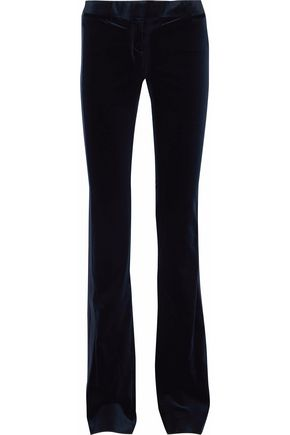 ROBERTO CAVALLI Cotton-blend velvet bootcut pants