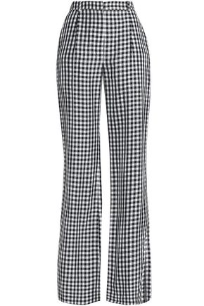 SONIA RYKIEL Gingham twill wide-leg pants