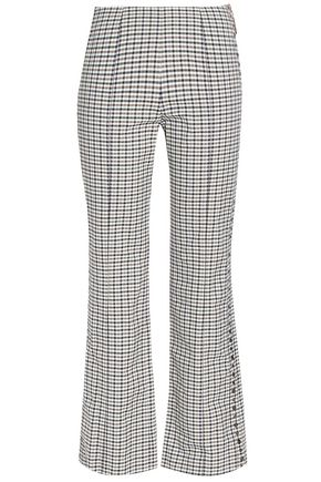 SONIA RYKIEL Studded checked jacquard kick-flare pants