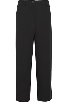 THEORY Cropped silk-crepe wide-leg pants