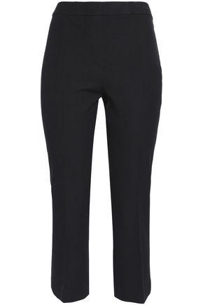 ELIE TAHARI Cropped cotton-blend twill straight-leg pants