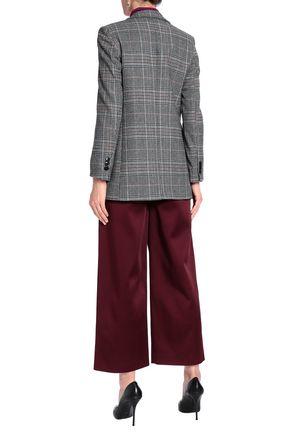 JOSEPH Button-detailed satin-crepe wide-leg pants