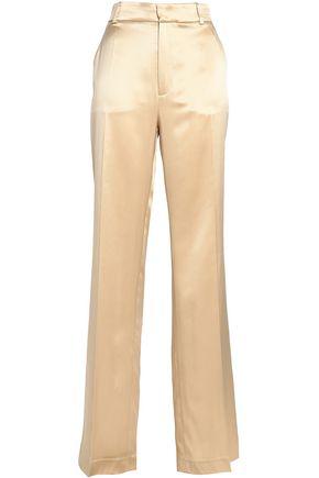JOSEPH Silk-satin straight-leg pants