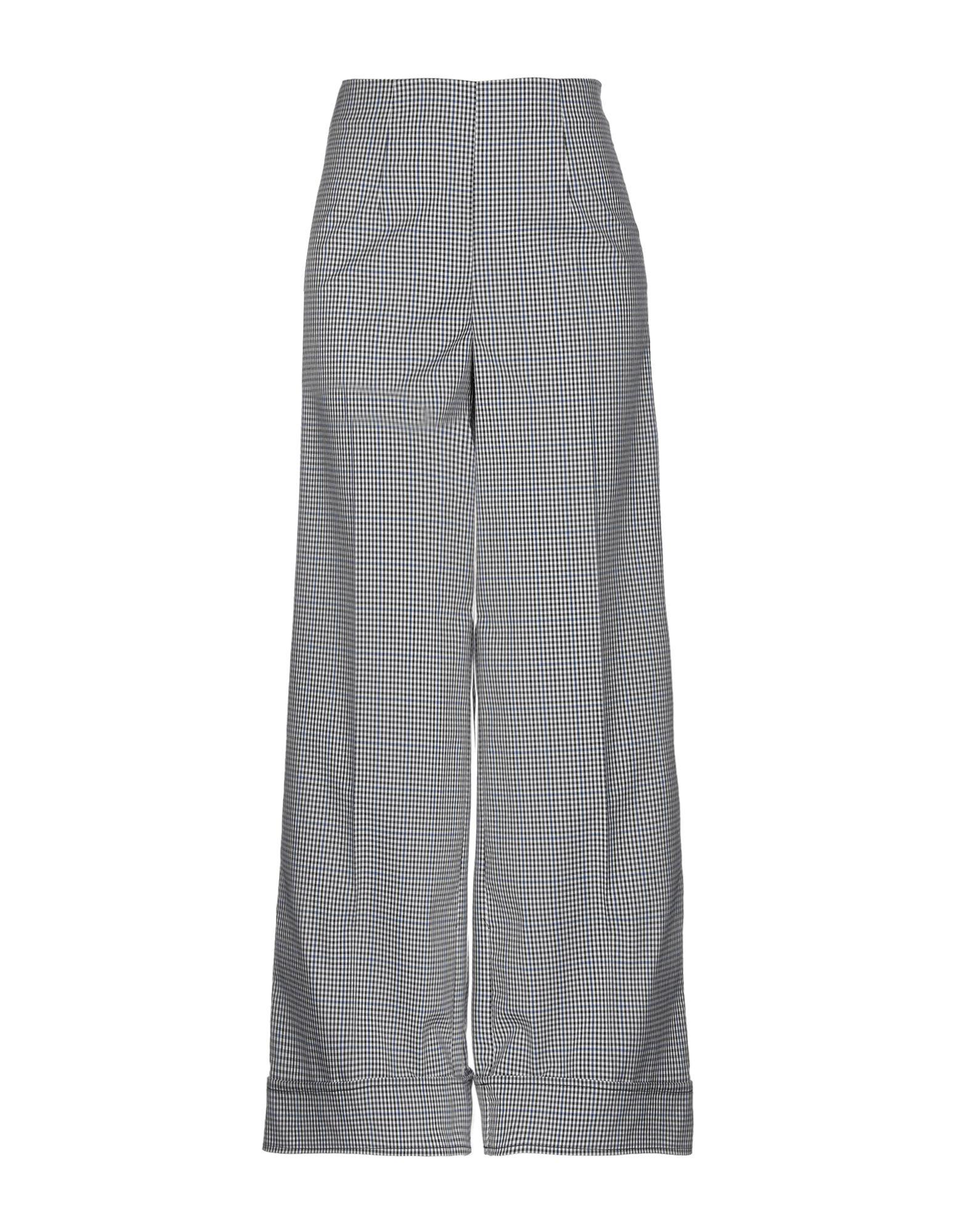 CRISTINA ROCCA Повседневные брюки брюки широкие с принтом в клетку виши