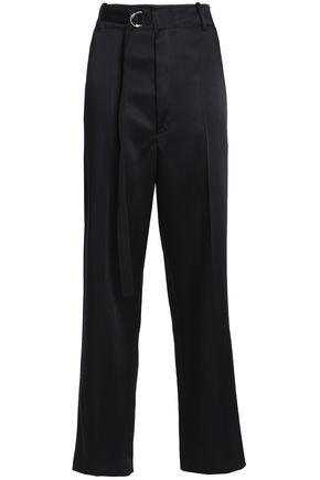 JOSEPH Satin-crepe straight-leg pants