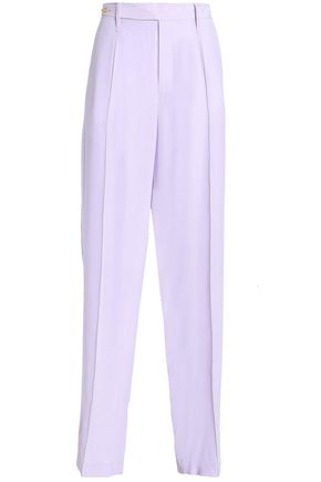 JOSEPH Riska layered silk crepe de chine wide-leg pants
