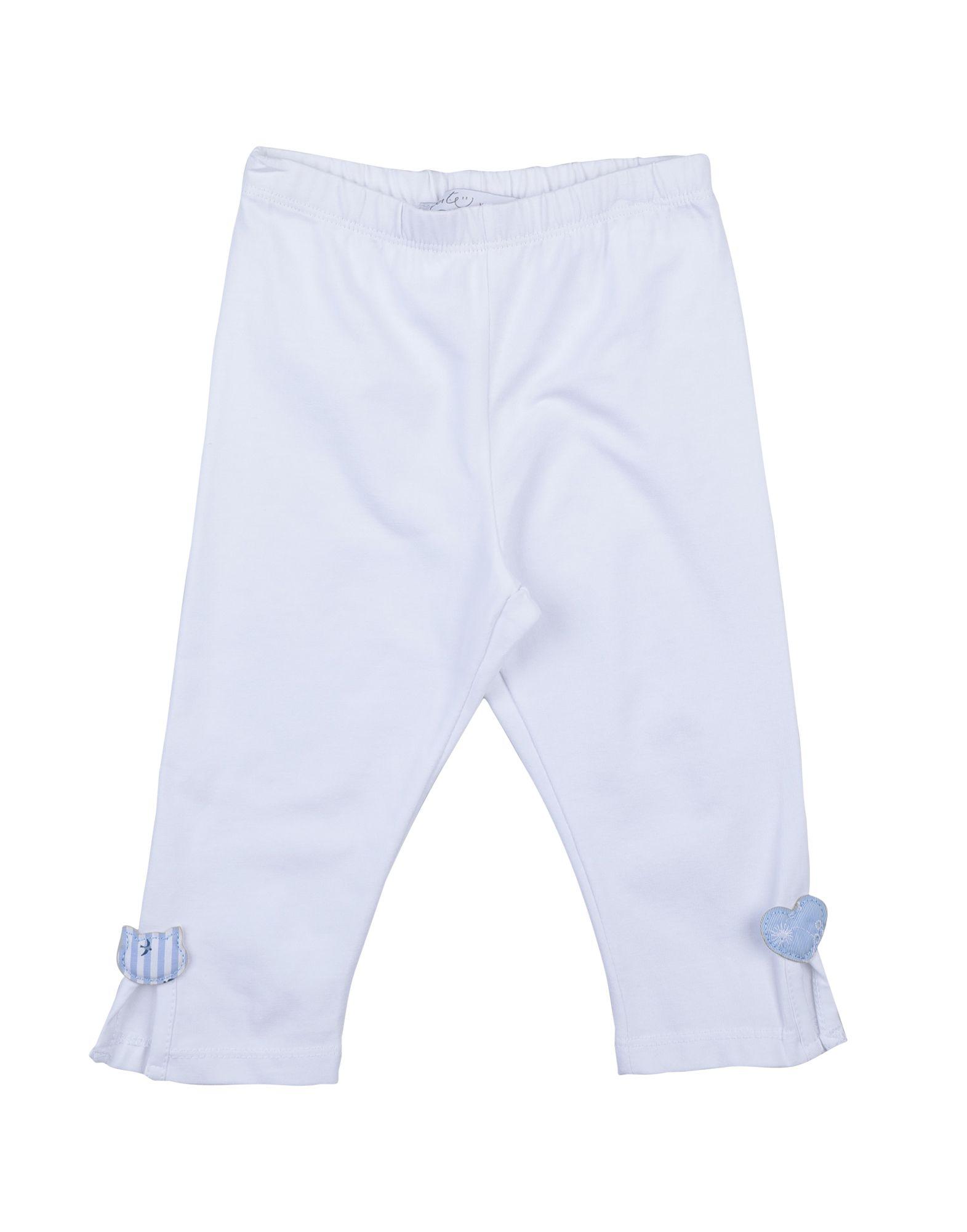 "Per Te"" Kids' Leggings In White"