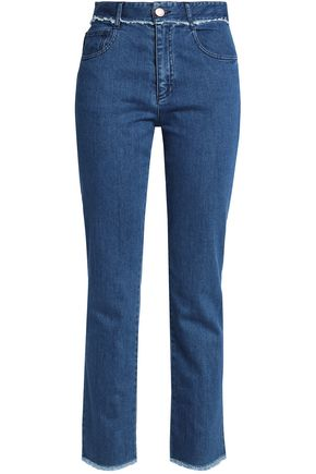 SEE BY CHLOÉ Frayed high-rise straight-leg jeans