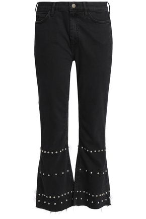 M.I.H JEANS Marty studded high-rise kick-flare jeans