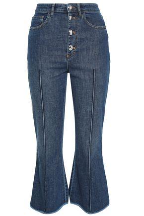 SONIA RYKIEL Frayed high-rise kick-flare jeans