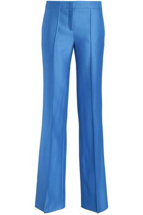 EMILIO PUCCI Wool and silk-blend twill wide-leg pants