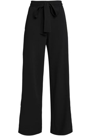 SEE BY CHLOÉ Bow-detailed crepe wide-leg pants