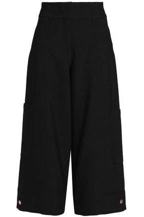 SEE BY CHLOÉ Cropped twill wide-leg pants