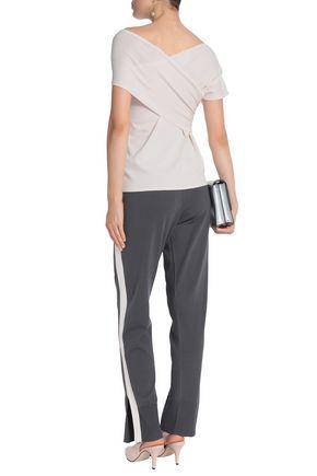 CHARLI Viella striped stretch-knit track pants
