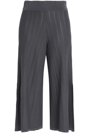 CHARLI Ribbed-knit culottes