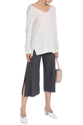CHARLI Ribbed-knit culottes