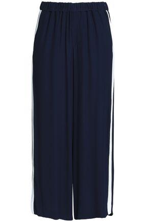 CHARLI Shea striped crepe de chine culottes