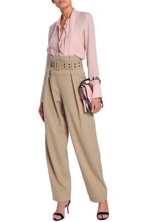 EMILIO PUCCI Pleated stretch-wool twill wide-leg pants