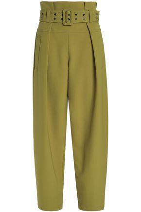 EMILIO PUCCI Pleated crepe wide-leg pants