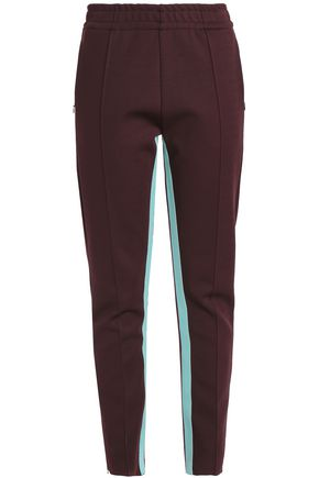 JOSEPH Striped neoprene slim-leg pants