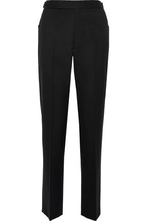 Button Detailed Wool Twill Straight Leg Pants by Helmut Lang
