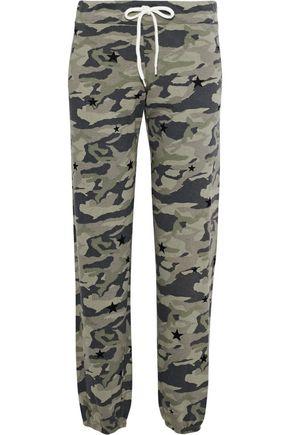 MONROW Printed terry track pants