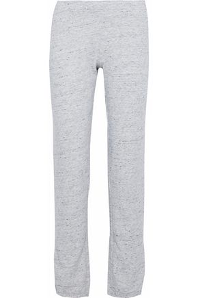 MONROW Marled fleece track pants
