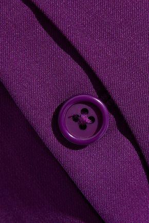 HELMUT LANG Button-detailed wool-twill straight-leg pants