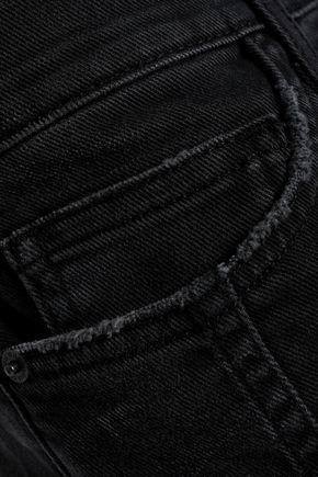 CURRENT/ELLIOTT The Seamed Easy Stiletto mid-rise slim-leg jeans
