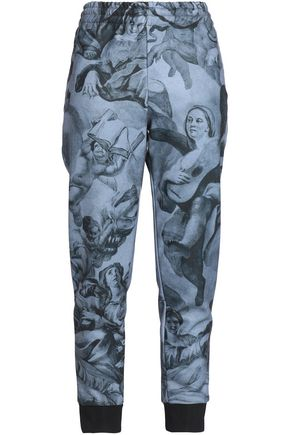 MOSCHINO Printed jersey track pants