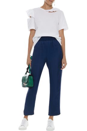 MAGGIE MARILYN Change The Rules striped satin-twill track pants