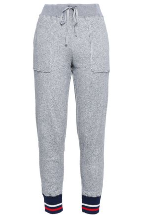 JOIE French cotton-terry track pants