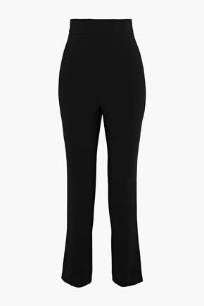 REEM ACRA Stretch-crepe tapered pants
