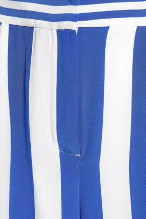 CAMILLA Striped silk wide-leg pants