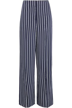DIANE VON FURSTENBERG Striped twill wide-leg pants